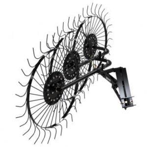 Грабли ворошилки СКАУТ PL-3600 для минитрактора, три кольца сгребания